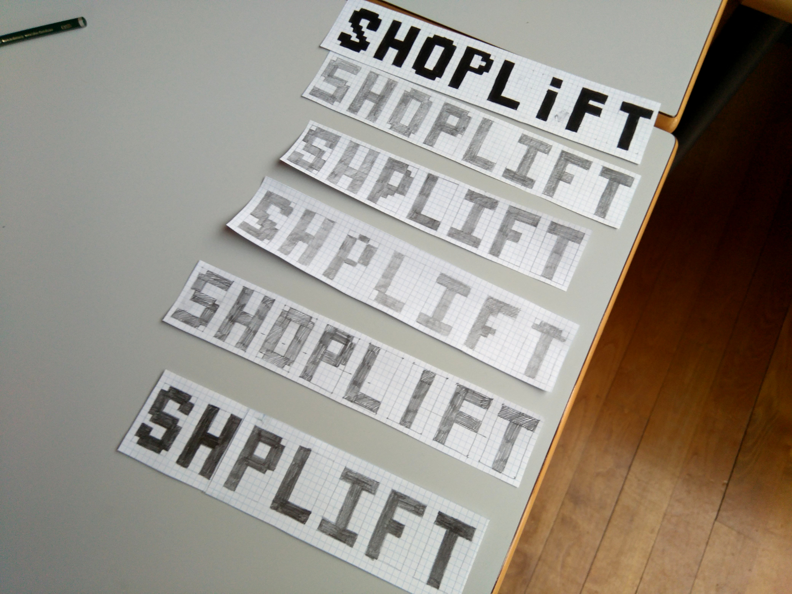 Shoplift sketches, photo by Manufactura