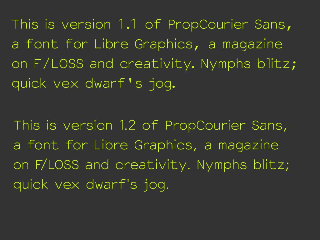 PropCourier 1.1 vs PropCourier 1.2
